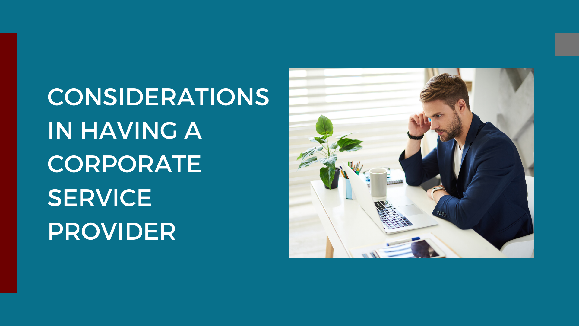 Considerations in Having a Corporate Service Provider