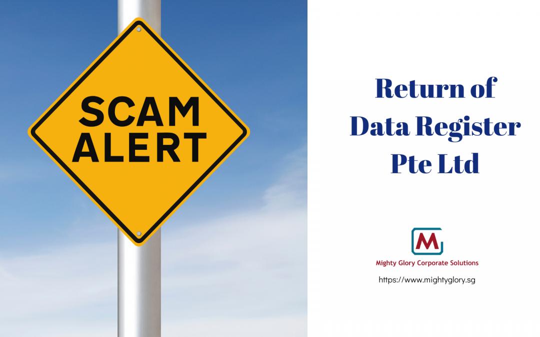 The Return of Data Register Pte Ltd